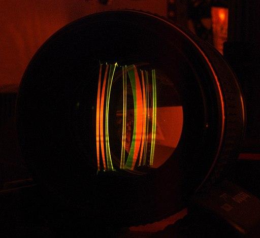 Laser Fluorescence Cutaway of Pentax Lens