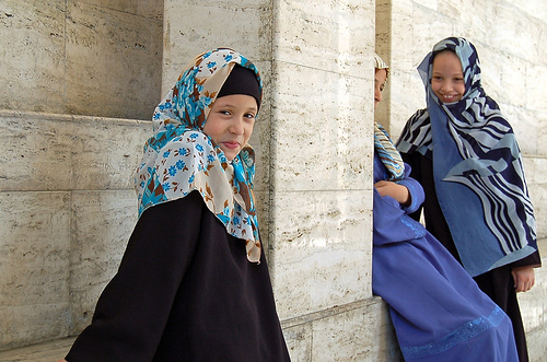 Libyan Girls inside Mosque - Photodoto Reader Photos