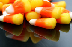 reflected candy corn