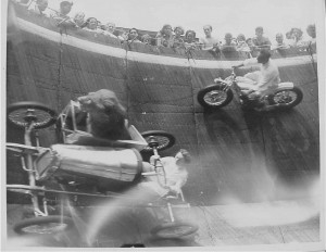 lion on wall of death