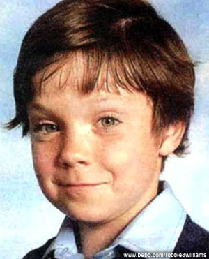 Robbie Williams in youth