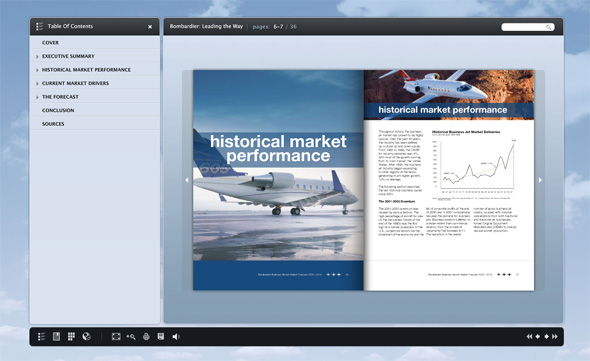 Bombardier Flip pages