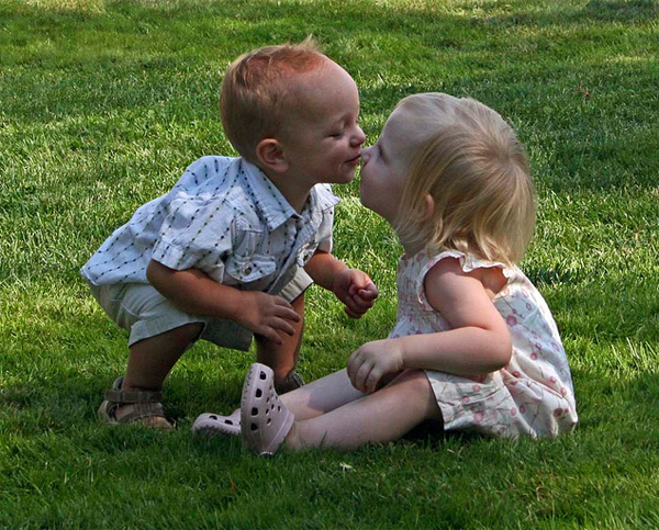 Photos of kids in love