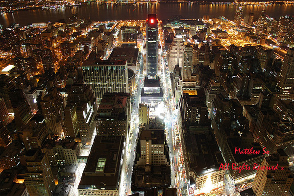 new york photos at night