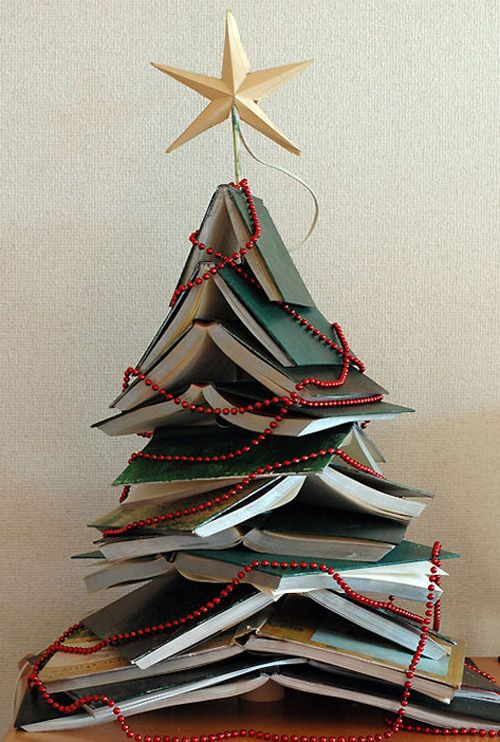 New Year tree made of books