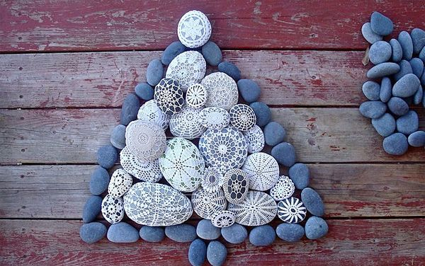 Original New Year tree of stones