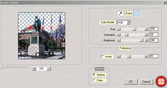 Download Eraser Classic - free Photoshop CS5 Plug-in