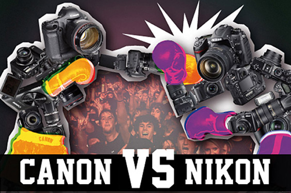 Infographic for Photographers: Canon vs. Nikony