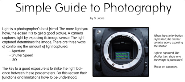 Infographic for Photographers: Simple Guide to Photography