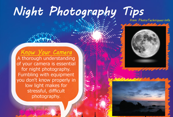 Infographic for Photographers: Night Photography Tips