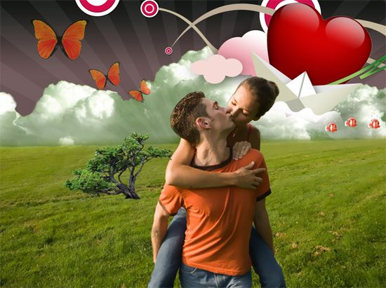 Love Poster in Photoshop