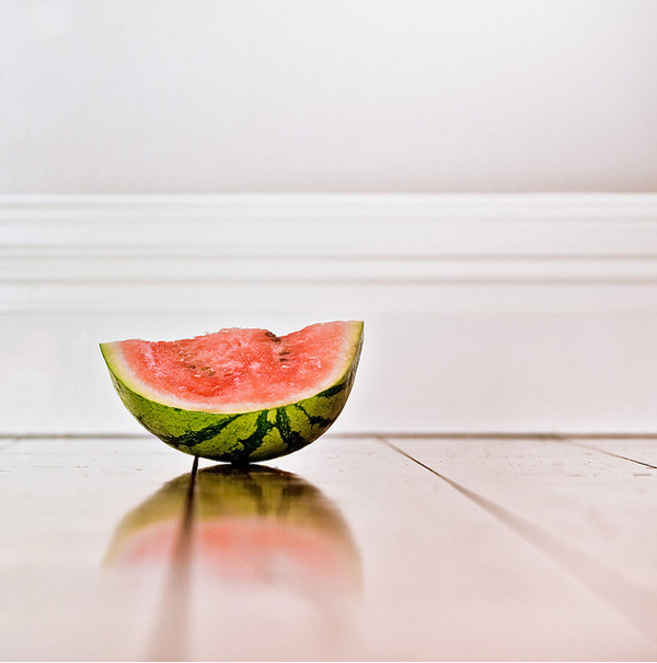 minimalist photography: watermelon