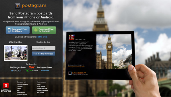 postagram app free download iphone android