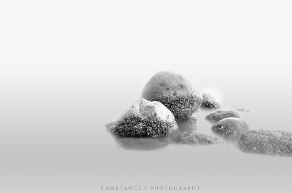 minimalist black and white photography: stones