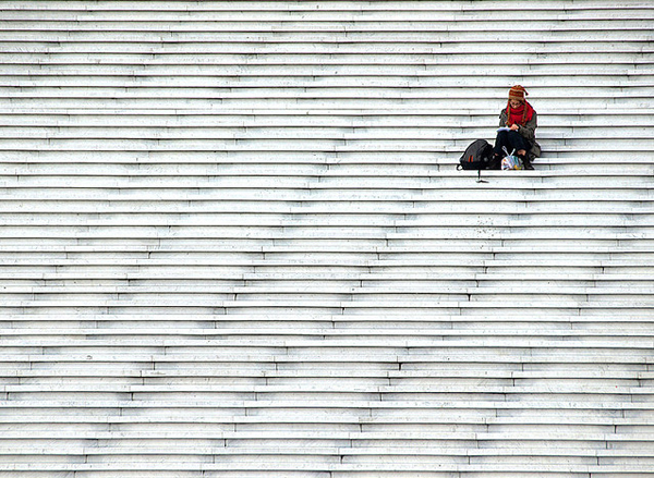 minimalist photography capturing people