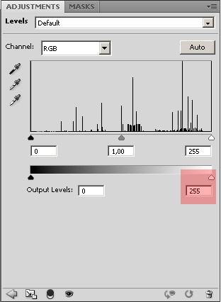 photoshop levels histogram