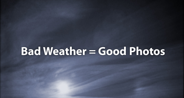 Bad weather is the best one for taking good landscape photos