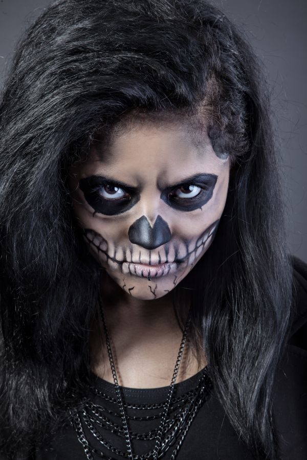 halloween photo portrait woman face