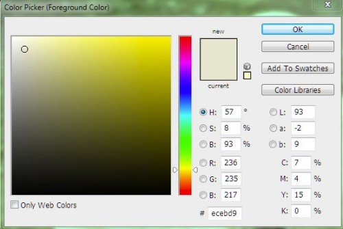 Yellow Grey Color Picker