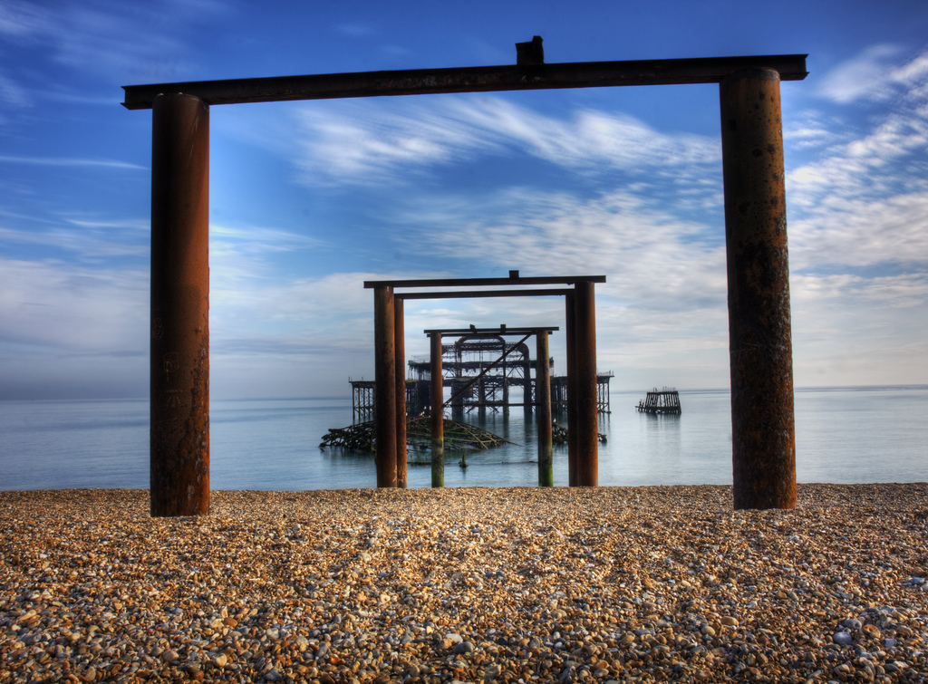 The west pier at Brighton Beach is steeped with history, the subject matter alone here already carries with it a story