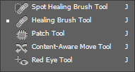 Select Healing Brush Tool