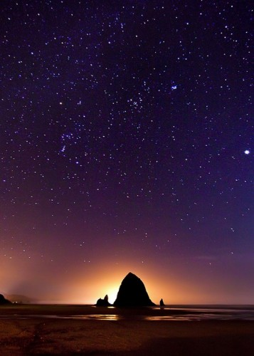 This shot was started even before the sun actually went down, before the stars were even visible.