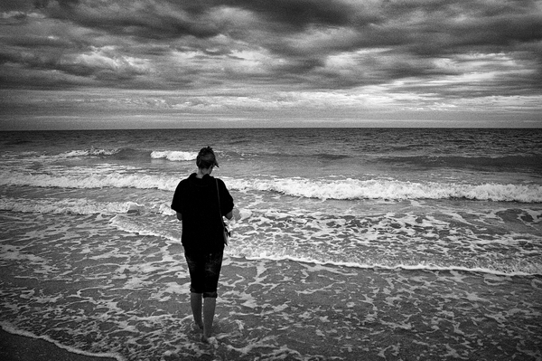 Water and dramatic skies can be amplified by converting to black and white.