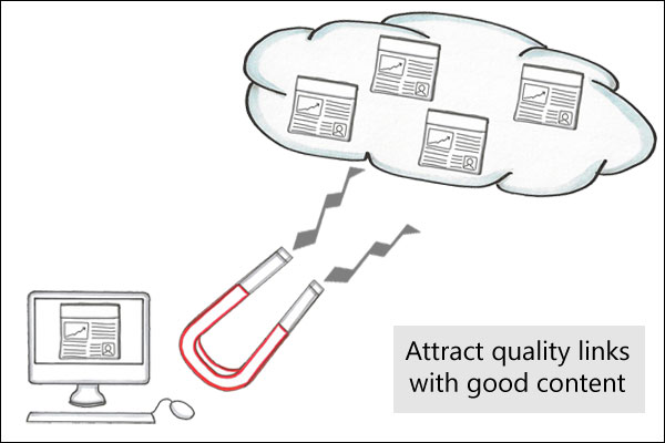 Link building strategies: Attract quality links with good content...