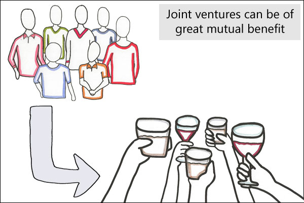 Link building strategies: Joint ventures can be of great mutual benefit...