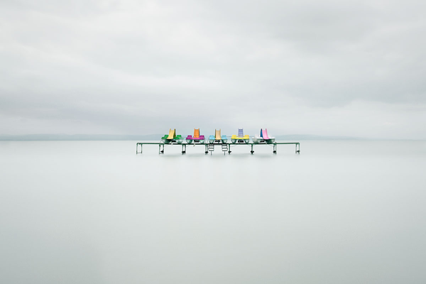 """Pedal Boats"" © Akos Major from Hungary won 1st Place in the 2012 Landscape/Seascape/Nature Category. The simplicity, balance, and unusual approach to a somewhat traditional category appealed to all the jurors."