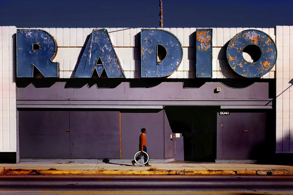 """Radio"" © Jody Miller from the U.S. won 1st Place in the 2012 Cityscape Category. The simplicity and color palette of this image made a powerful first impression. Story, texture, detail, and perfect composition continued to garner high marks from all jurors in each round."