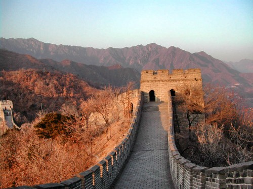 The historic Great Wall of China.