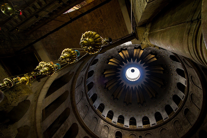 The Church of the Holy Sepulchre in Jerusalem.