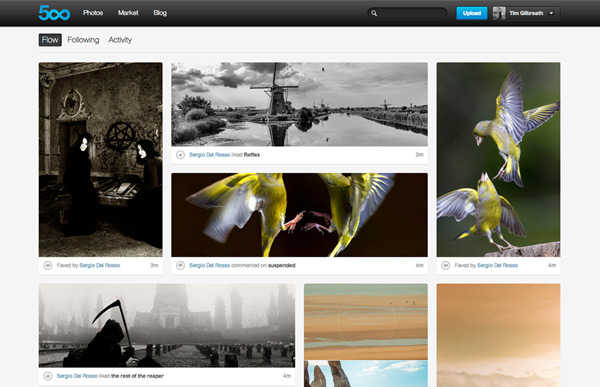 "Everything about 500px says ""high quality""."