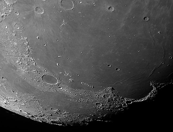 Sharpening and tweaking in editing should let you actually see the craters in your moon photograph! Photo by Nigel Howe