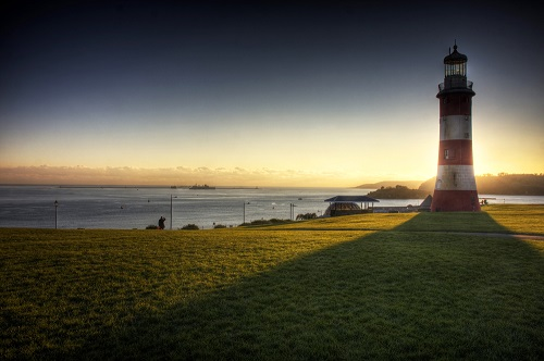 When I took this photograph I remember waiting around for ages for the sun to get behind the lighthouse and for the man (middle left) do to something interesting... as soon as he raised his hand to look at the ships in the distance, I knew I had my shot.