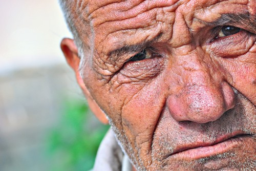old people offer stories within the lines of their faces, and certainly make for interesting subjects to begin with