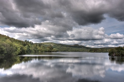 I took this photograph when camping on the moors in Southern England, using a polarising filter will always help in making the reflections of the sky in water more dramatic