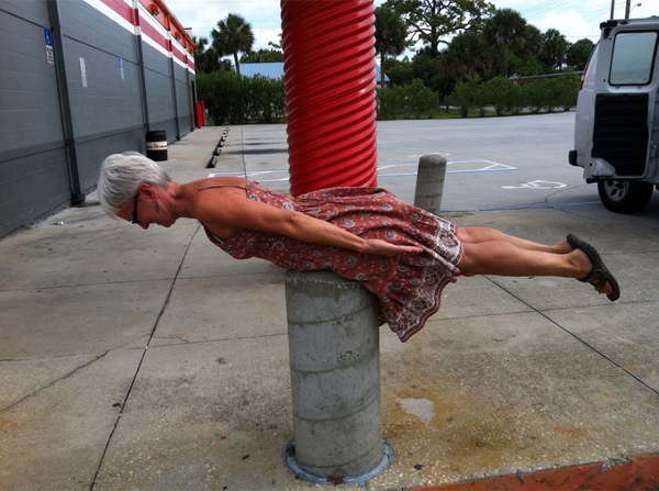 Planking on a post by Deb Taylor