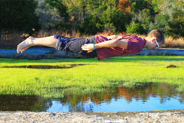Metaphysical Plank Over natural pool of water by PedalingPaul