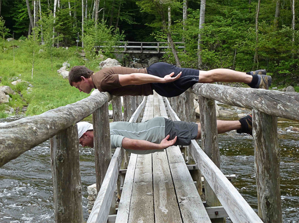 Planking by Waterfall Guy
