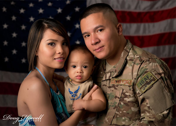 Military families can always use before, during, and after deployment photos for keepsakes. Photo by Doug Howell.