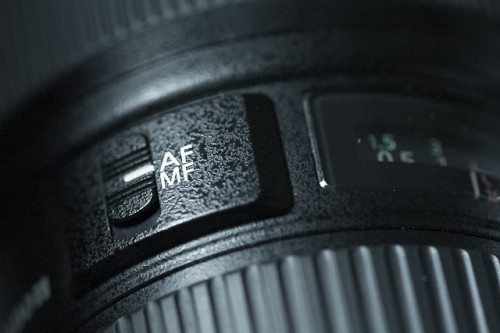 Click this switch which can normally be found on or near the lens, to MF which stands for manual focus