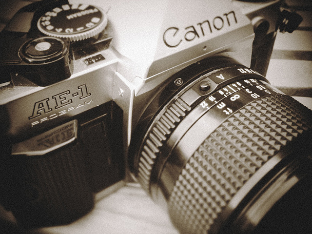 The beautiful Canon AE-1 Program, circa 1981.  Photo by Bierlos.