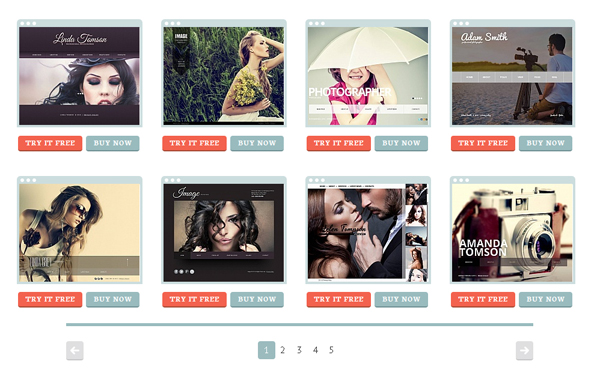 Browse our gallery of perfect photography website templates
