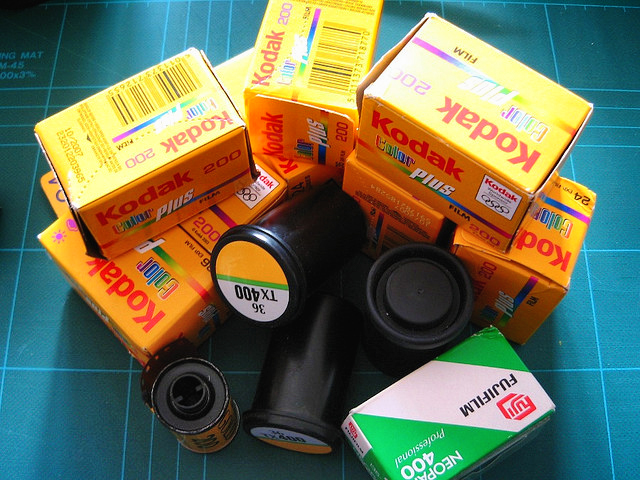 Since its decline in popularity, film has become more scarce, and more expensive as a result.  Photo by rachelcreative.
