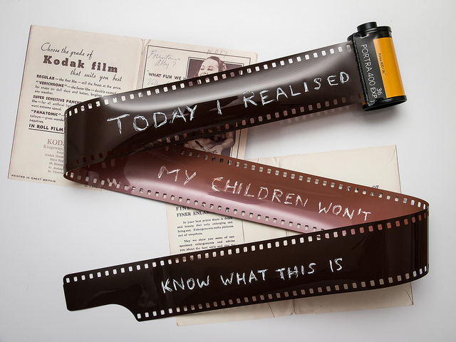 An unfortunate true statement about the history of film photography.  Photo by jcoterhals.
