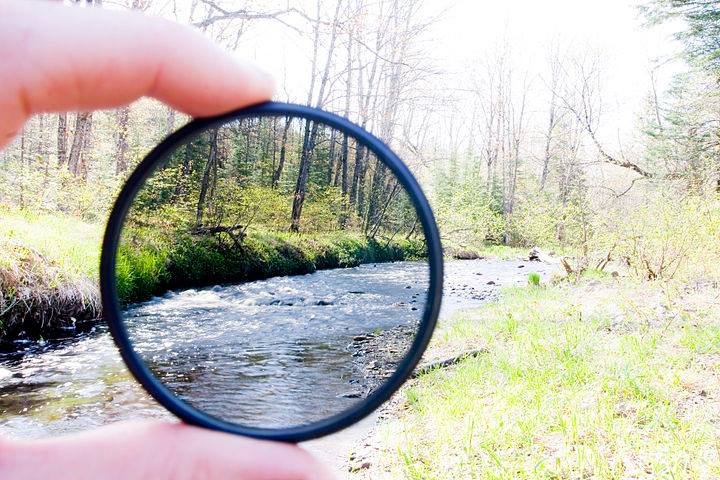 The effects of a neutral density filter; reducing glare and causing contrast and pop.