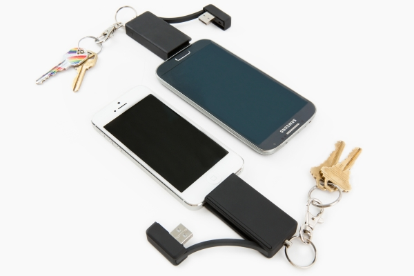 2 in 1 Keychain Charger for iPhone and Android - Gifts for Photographers