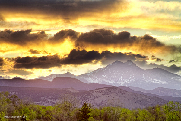 Rocky Mountain Springtime Sunset